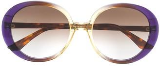 Emmanuelle Khanh Round Frame Gradient Sunglasses