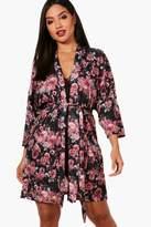 boohoo Callie Dark Floral Robe