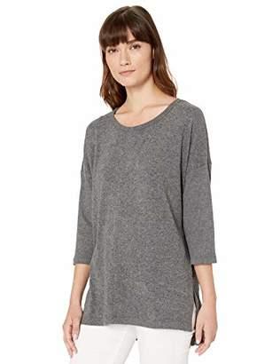 Gloria Vanderbilt Women's Petite Aria Hacci Sweater with 3/4 Sleeve