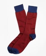 Brooks Brothers Color-Block Wool Crew Socks