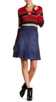 Romeo & Juliet Couture Faux Suede Scalloped Mini Skirt