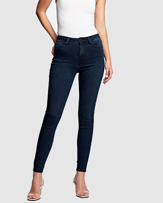 RES Denim Women's Navy High-Waisted - Harrys Hi Skinny Jeans - Size One Size, 24 at The Iconic