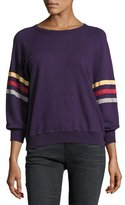 The Great The College Sweatshirt, Purple/Multicolor