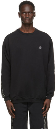 Vetements Black Logo Tape Sweatshirt