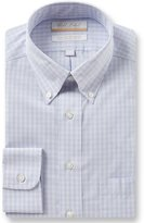 Roundtree & Yorke Gold Label Non-Iron Regular Full-Fit Button-Down Collar Checked Dress Shirt