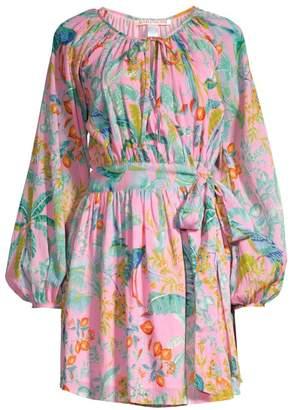 Banjanan Tropical Wrap Mini Dress
