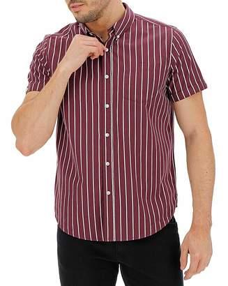 Jacamo Wine Stripe Poplin Shirt Long
