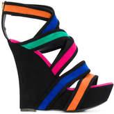 Balmain Inti Suede wedge sandals