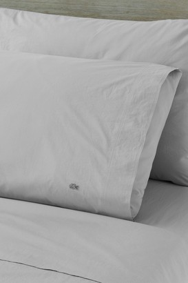 Lacoste Solid Washed Percale King Pillowcase Set