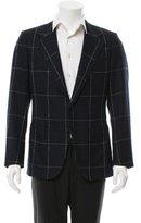 Valentino Virgin Wool Windowpane Sport Coat