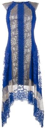 Alberta Ferretti Lace Asymmetric Dress
