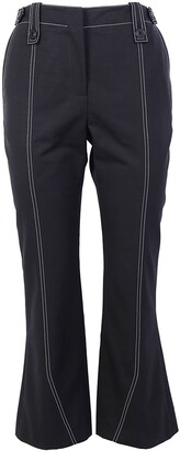 Givenchy Contrast Stitch Flared Trousers