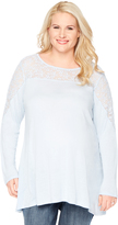 Motherhood Wendy Bellissimo Plus Size Lace Trim Maternity Blouse
