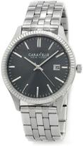 Caravelle New York Men's Silvertone Round Case Gray Dial Bracelet Watch