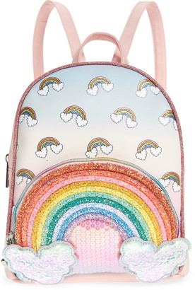 OMG Accessories OMG Over the Rainbow Sequin Mini Backpack