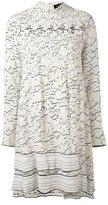 Proenza Schouler longsleeved vine print dress - women - Silk/Spandex/Elastane/Acetate/Viscose - 4