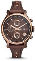 Fossil Original Boyfriend Chronograph Brown Leather Watch