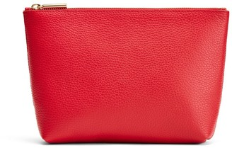 Cuyana Small Leather Zipper Pouch