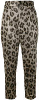 Haider Ackermann leopard print tapered trousers