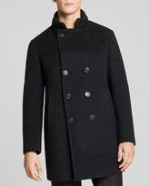 Armani Collezioni Double-Breasted Wool Blend Coat