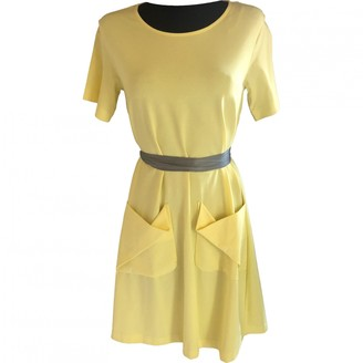 Cos Yellow Cotton - elasthane Dress for Women
