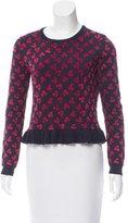 Altuzarra Cherry Jacquard Crew Neck Sweater w/ Tags