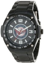 Game Time Unisex MLB-WAR-MIN Warrior Minnesota Twins Analog 3-Hand Watch