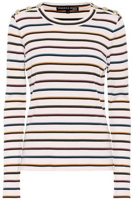 Veronica Beard Striped stretch-cotton top