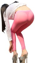 LinvMe Women's Sexy See Through Sheer Pencil Skinny Pants Nylon Legging S