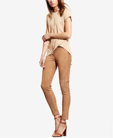 Lauren Ralph Lauren Faux Leather–Trim Jersey T-Shirt