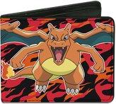 Pokemon Animated TV Series Aggressive Charizard Bi-Fold Wallet