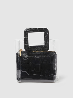 STAUD Mini Shirley Leather Bag