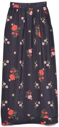 Simone Rocha Tulip Skirt in Dark Flower