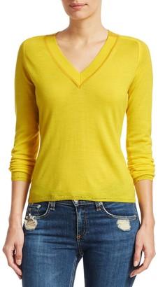 Rag & Bone Pamela Merino Wool Knit V-Neck Sweater
