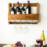 Cathy's Concepts CATHYS CONCEPTS Personalized Rustic Wall Mounted Wine Rack
