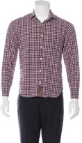 Billy Reid Gingham Woven Shirt