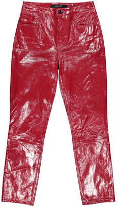 J Brand Red Leather Trousers