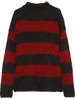 R 13 Nancy Striped Mohair-Blend Sweater