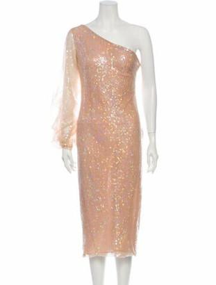 Sandra Mansour One-Shoulder Midi Length Dress