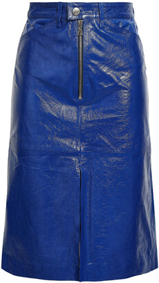 Sprwmn Cracked Patent-leather Skirt