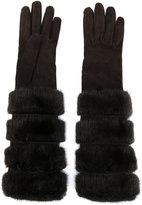 Loro Piana furry long gloves