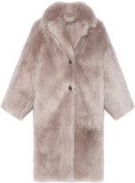 Pologeorgis The Ellipse Taupe Fur Coat
