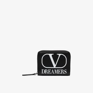 Valentino Black Garavani VLTN Dreamers hanging wallet