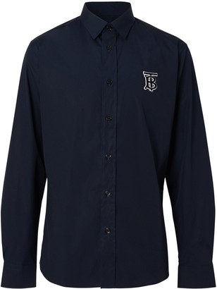 Burberry monogram long-sleeved buttoned shirt