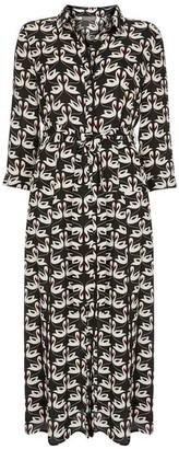 Mint Velvet Nora Swan Midi Shirt Dress