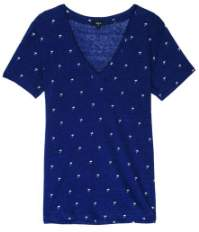 Rails Navy Palms Cara T Shirt - L - Blue