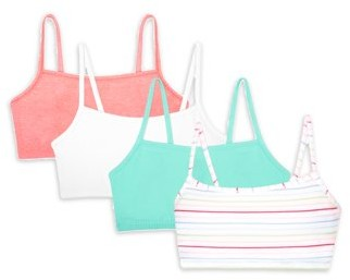 Fruit of the Loom Women's Strappy Sports Bra, Style 9036, 4-Pack