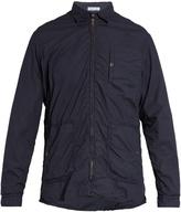 Tomas Maier Point-collar zip-through cotton jacket