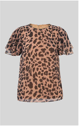 Whistles Brushed Cheetah Shell Top