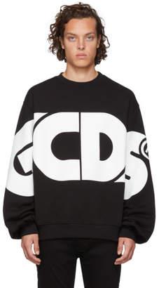 GCDS Black and White Huge Logo Sweatshirt